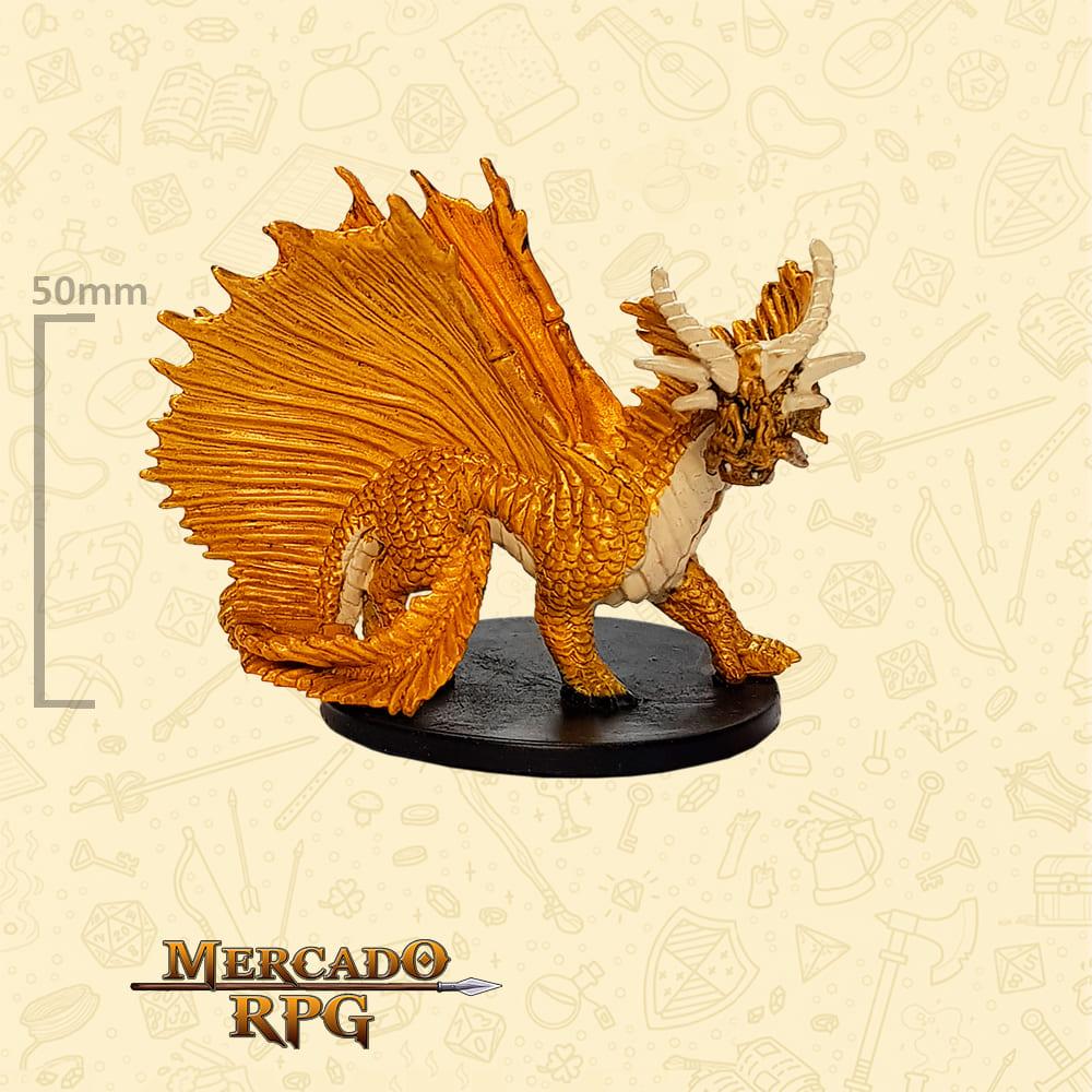 Large Gold Dragon - Miniatura D&D - RPG