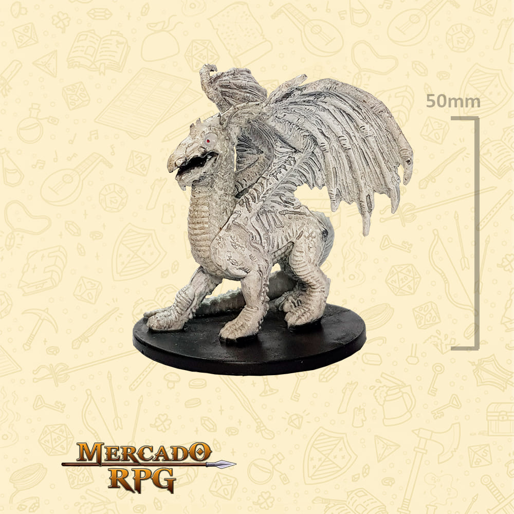 Large White Dragon - Miniatura D&D - RPG