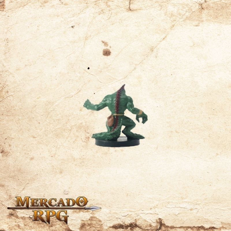Lizardfolk Rogue - Com carta  - Mercado RPG