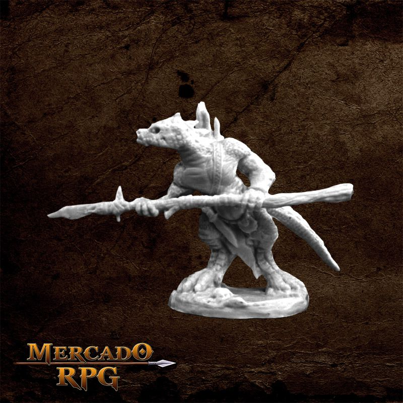 Lizardman Spearman - Miniatura RPG