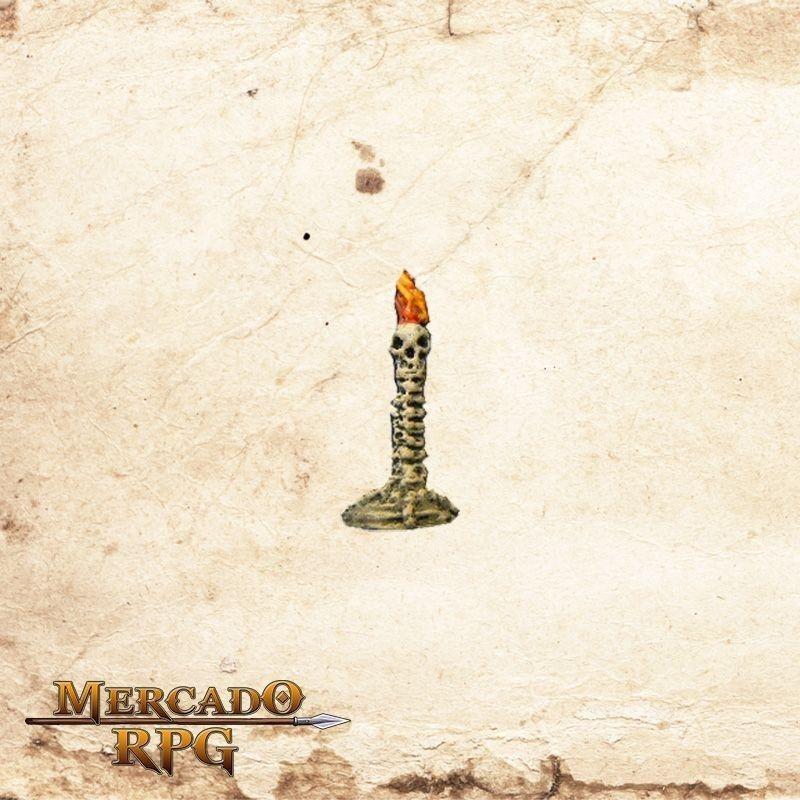Luminária com caveira  - Mercado RPG