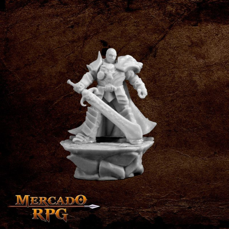 Male Antipaladin - Miniatura RPG  - Mercado RPG