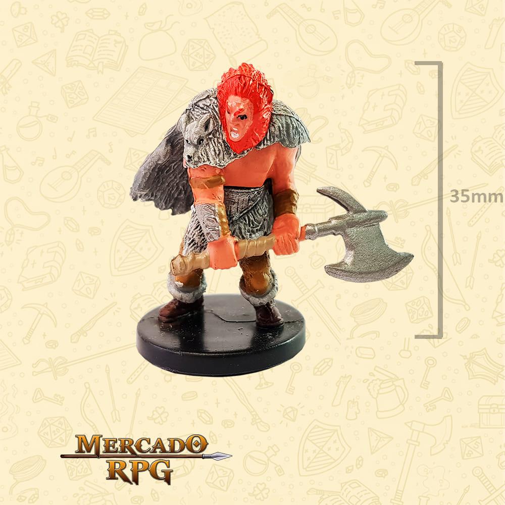 Male Human Barbarian - Miniatura D&D - RPG