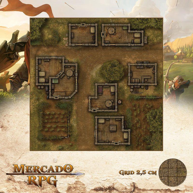 Marco do Entreposto 50x50 Grid de Batalha - RPG Battle Grid D&D