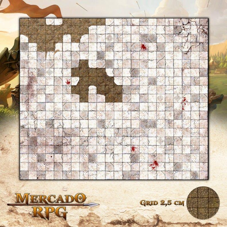 Masmorra55x55 Grid de Batalha - RPG Battle Grid D&D