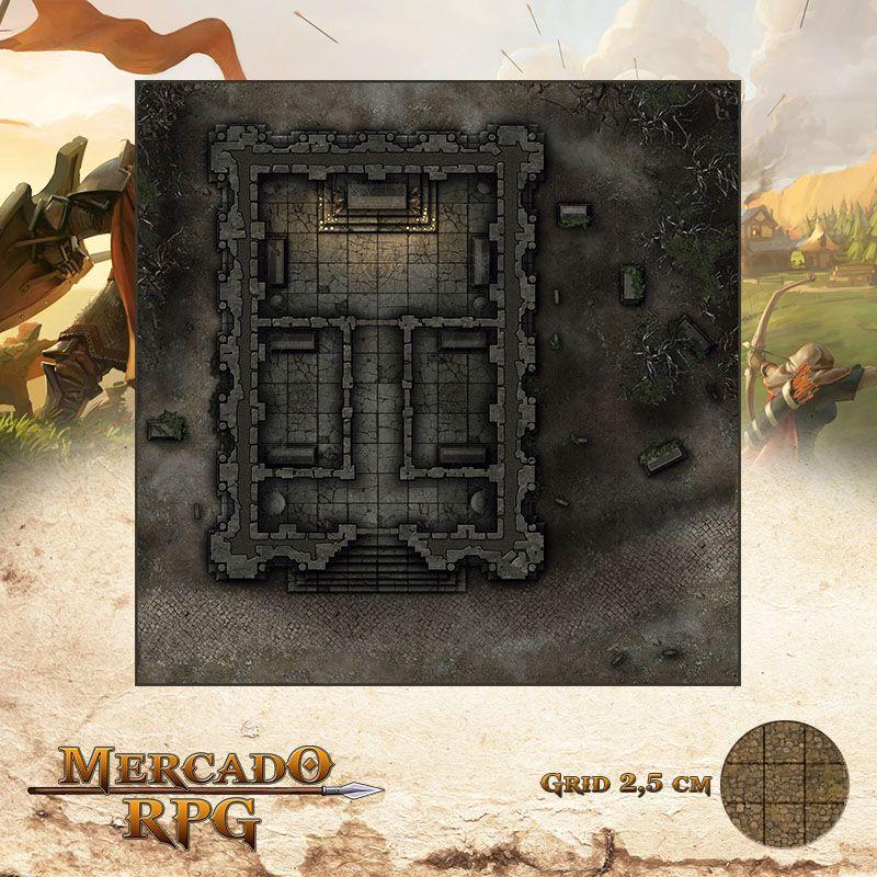 Mausoléu da meia noite 50x50 Grid de Batalha - RPG Battle Grid D&D