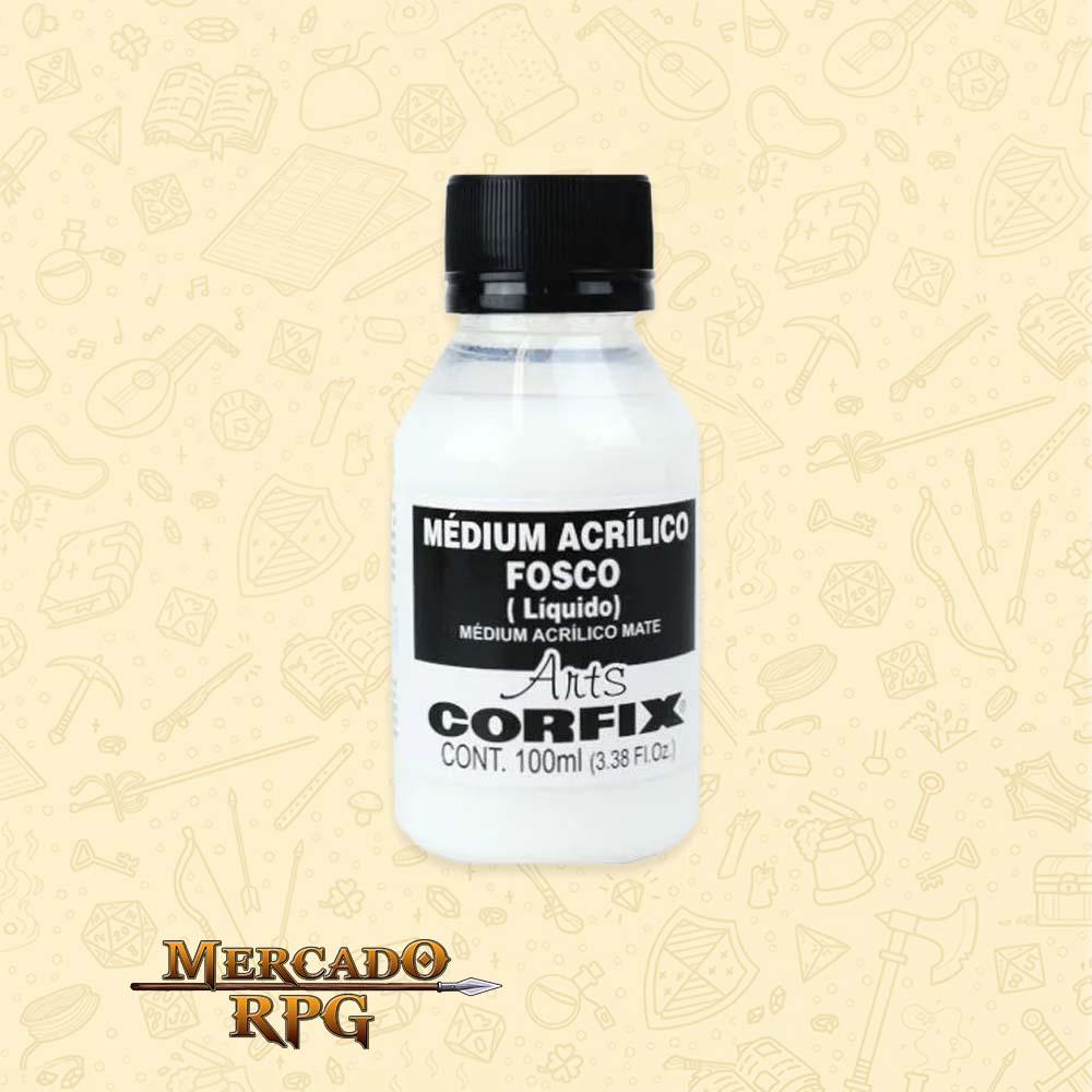 Médium Acrílico Fosco 100ml - Corfix - RPG