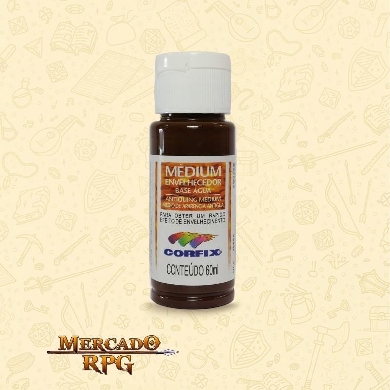 Medium Envelhecedor 60ml - Marrom Café - Corfix