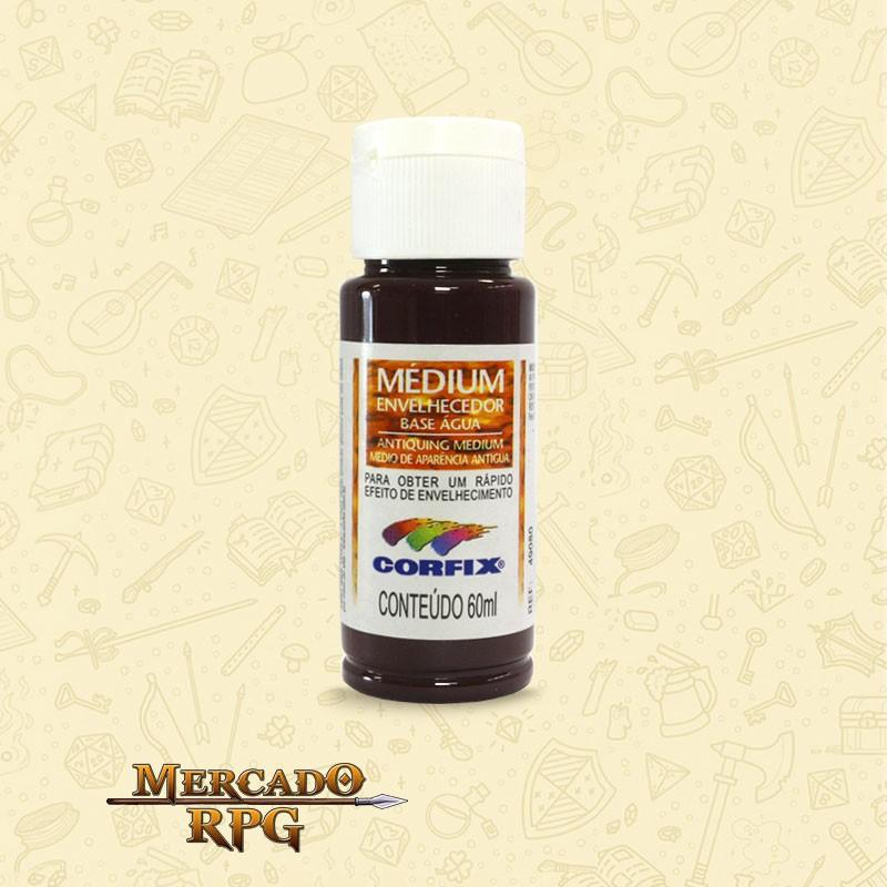 Medium Envelhecedor 60ml - Marrom Café - Corfix - RPG