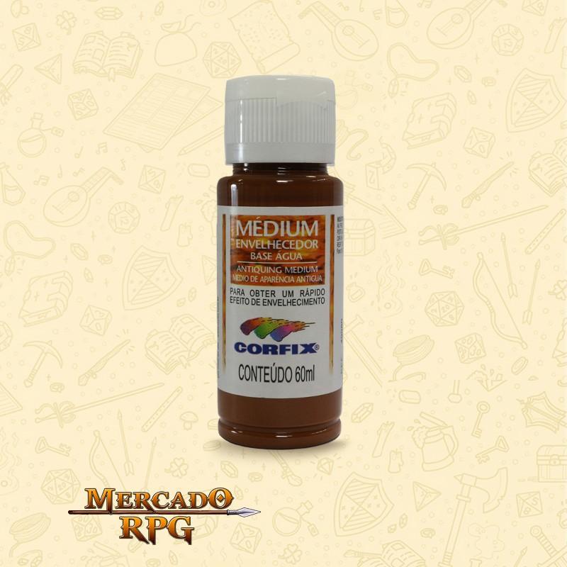 Medium Envelhecedor 60ml - Marrom Claro - Corfix