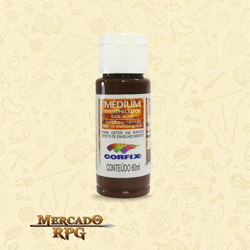 Medium Envelhecedor 60ml - Marrom Madeira - Corfix - RPG
