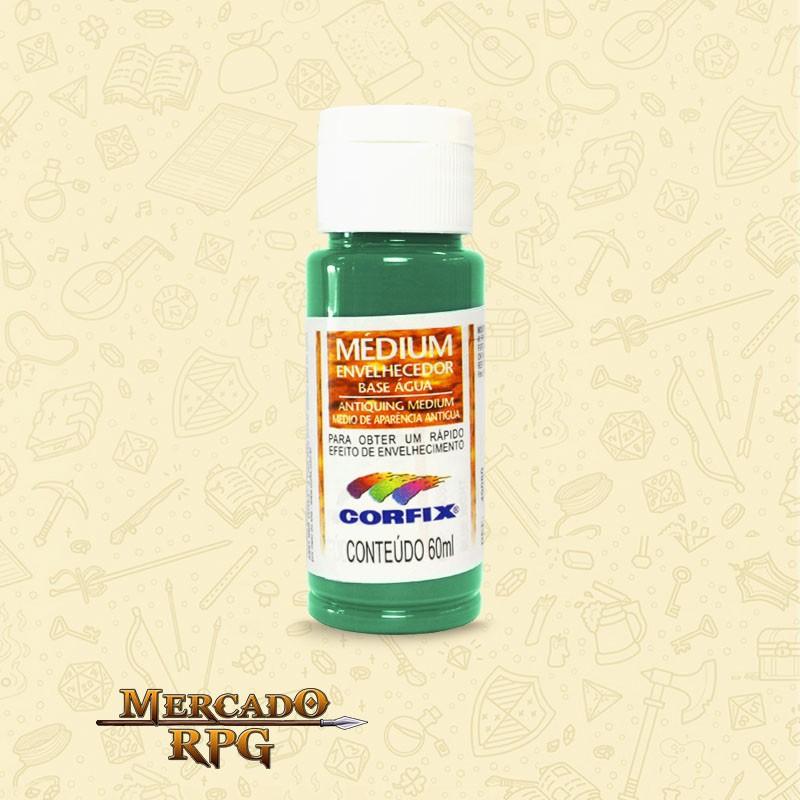 Medium Envelhecedor 60ml - Verde Antigo - Corfix - RPG