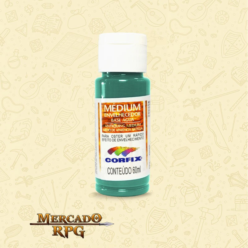Medium Envelhecedor 60ml - Verde Zinabre - Corfix - RPG