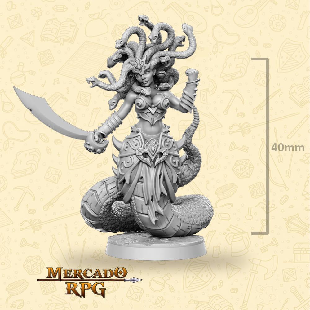 Medusa - Miniatura - RPG