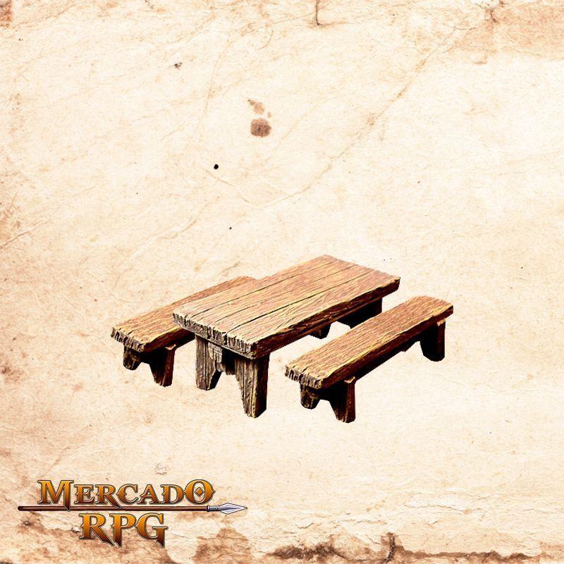 Mesa com bancos  - Mercado RPG