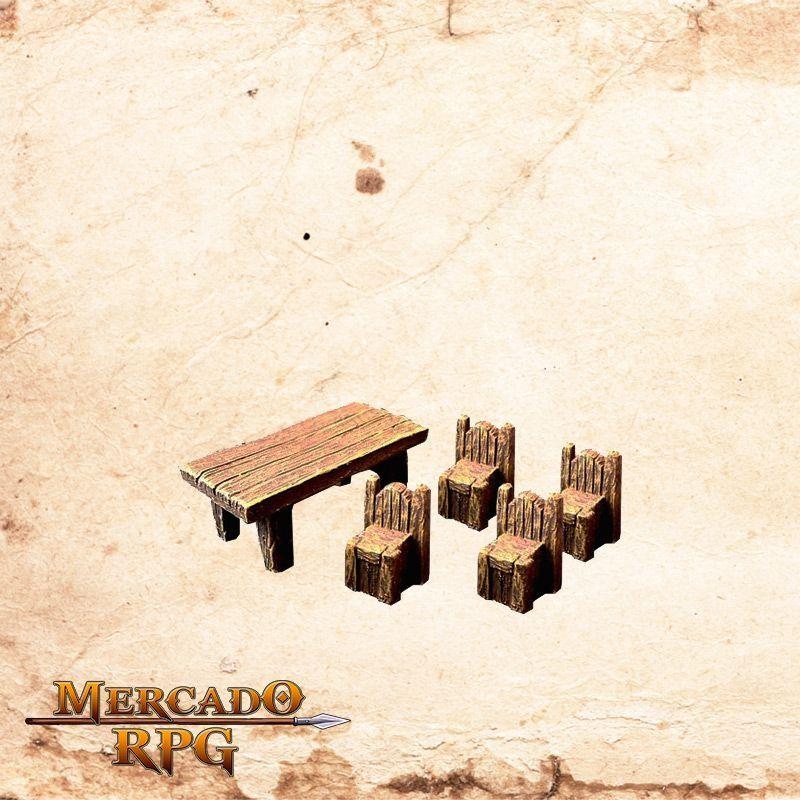 Mesa com cadeiras  - Mercado RPG