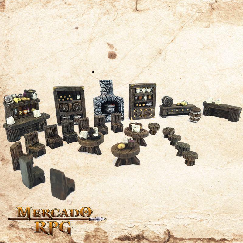 Mobília Taverna  - Mercado RPG