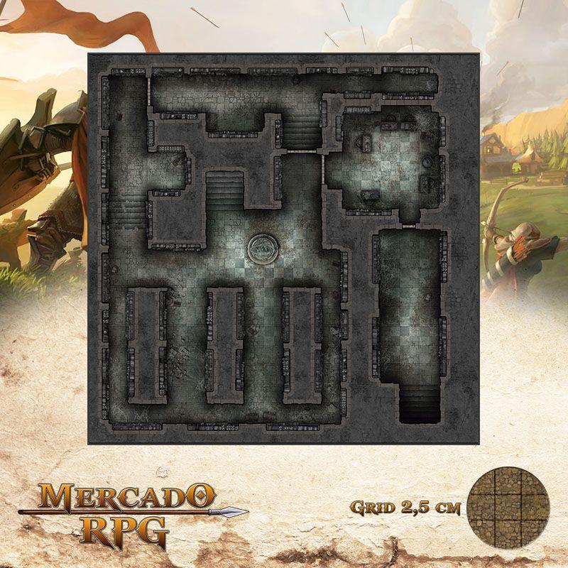 Monastério das Lamúrias - Biblioteca 50x50 - RPG Battle Grid D&D