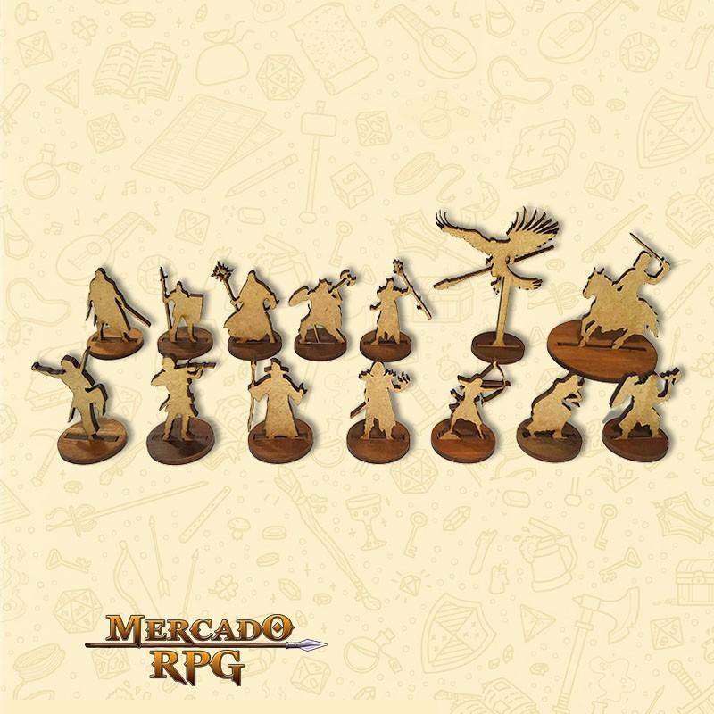 Miniaturas de Heróis para RPG D&D MDF - RPG