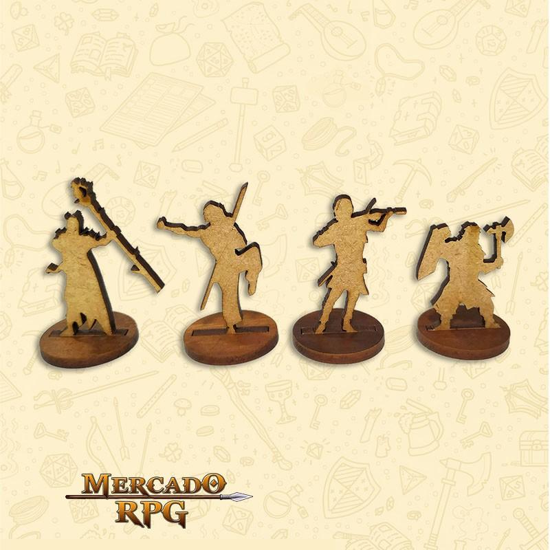 Heróis - Miniaturas MDF - RPG  - Mercado RPG