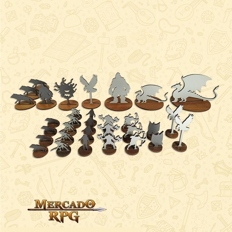 Miniaturas de monstros para RPG D&D MDF - RPG