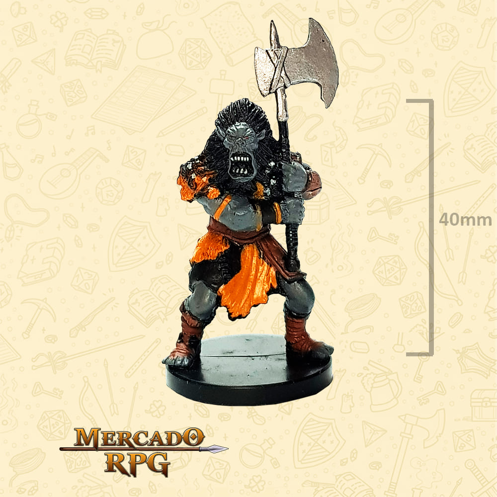 Mountain Orc - Miniatura D&D - RPG