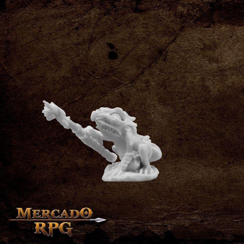 Mudcroak, Frogman Shaman - Miniatura RPG  - Mercado RPG