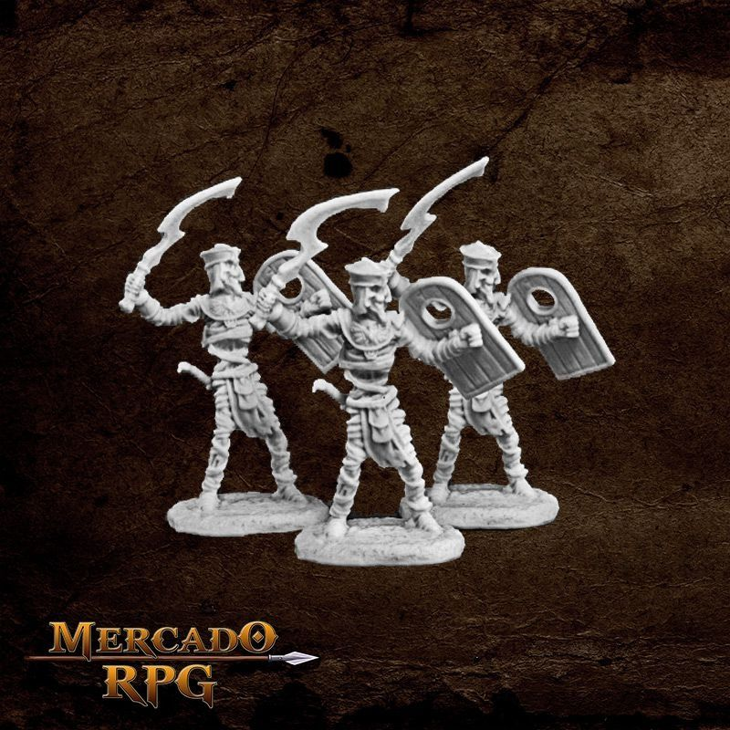 Mummy Warrior (3) - Miniatura RPG