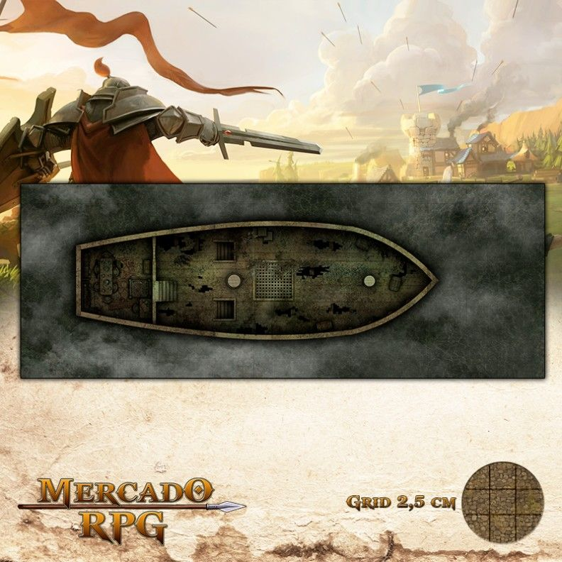 Navio Abandonado 67,5x25 - RPG Battle Grid D&D