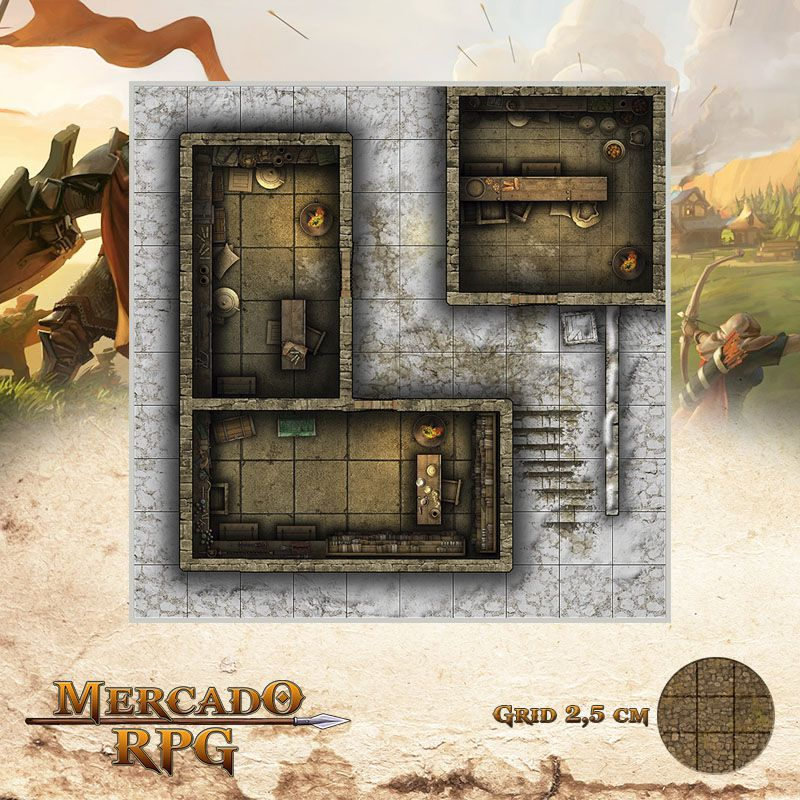 Neve Morta - Armazém 25x25 - RPG Battle Grid D&D