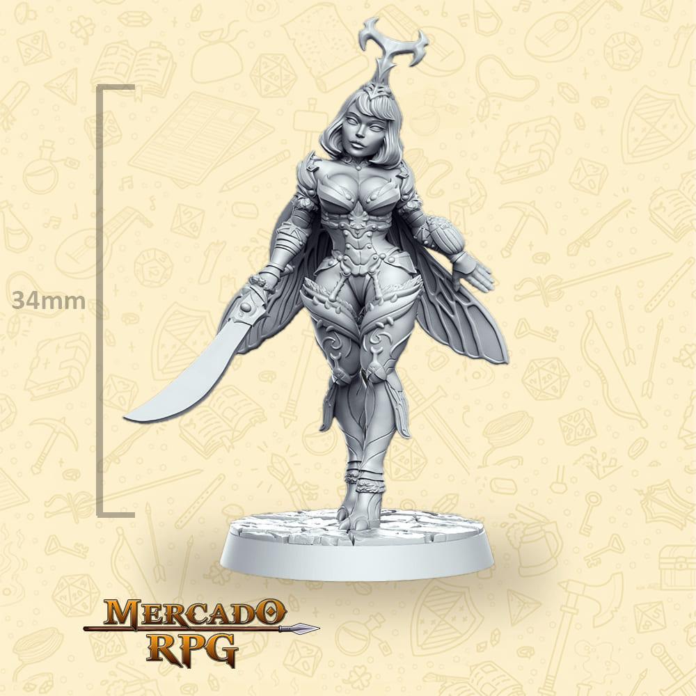 Nina Sword - Miniatura - RPG