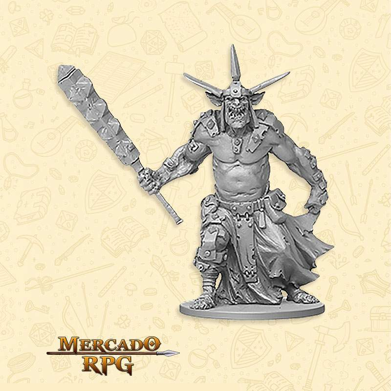 Orc Enforcer Boss - Miniatura RPG