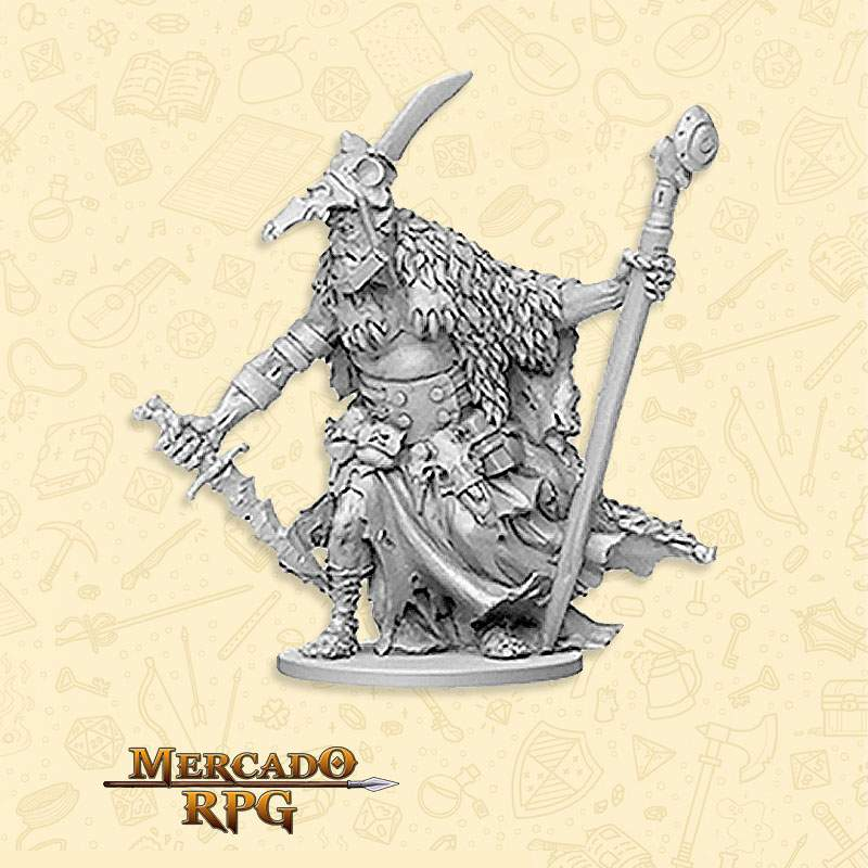 Orc Flayer Boss - Miniatura RPG