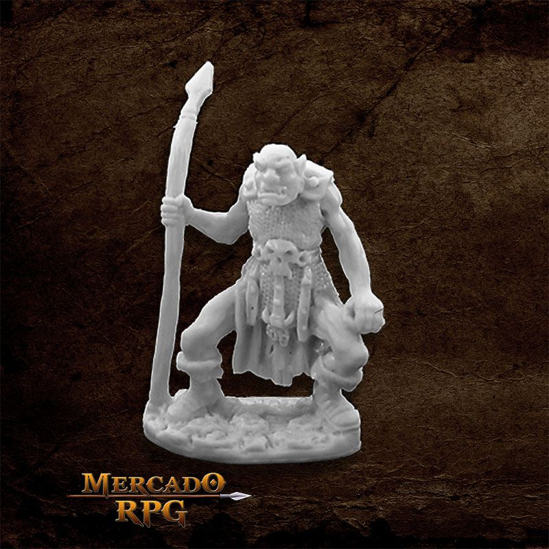 Orc Spearman - Miniatura RPG  - Mercado RPG