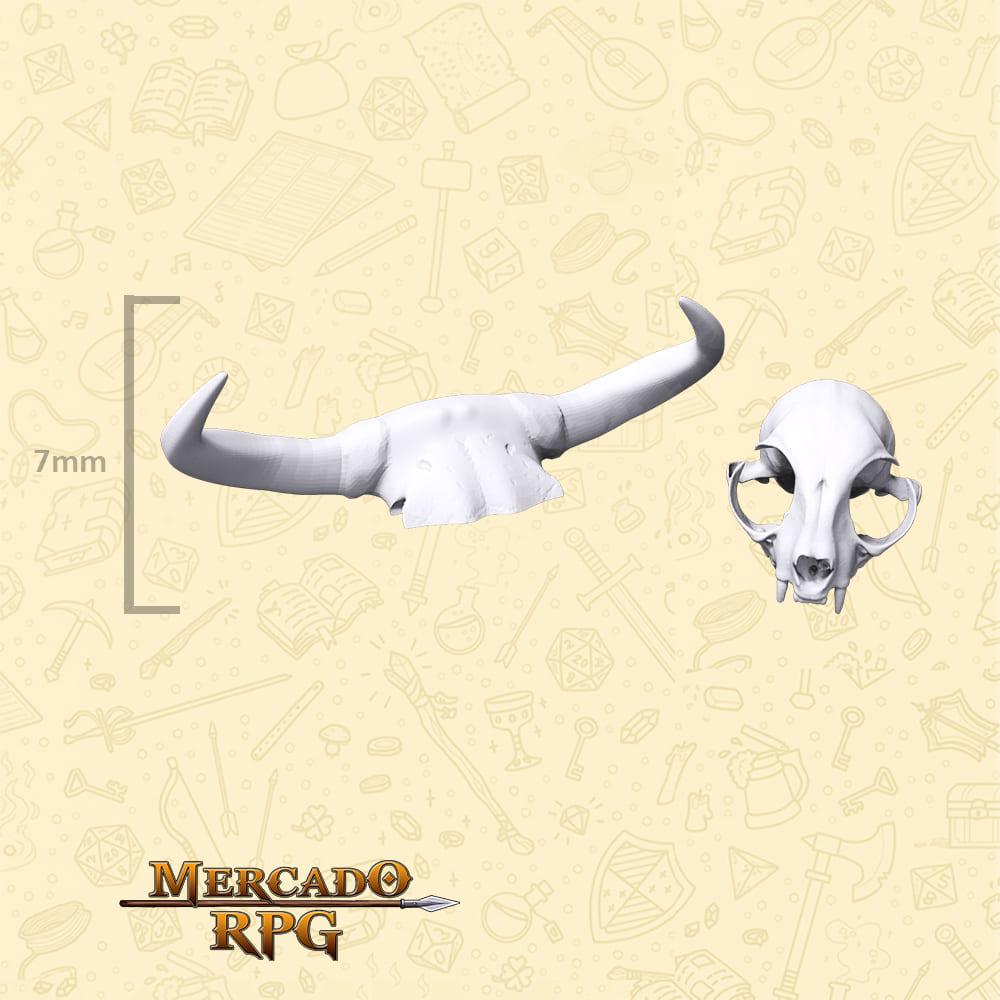 Ossos de animais para Bases e Cenários - Miniatura - RPG