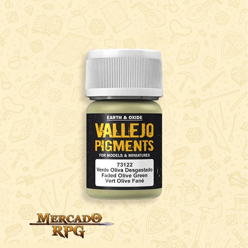 Pigmento Vallejo Faded Olive Green 35ml - RPG
