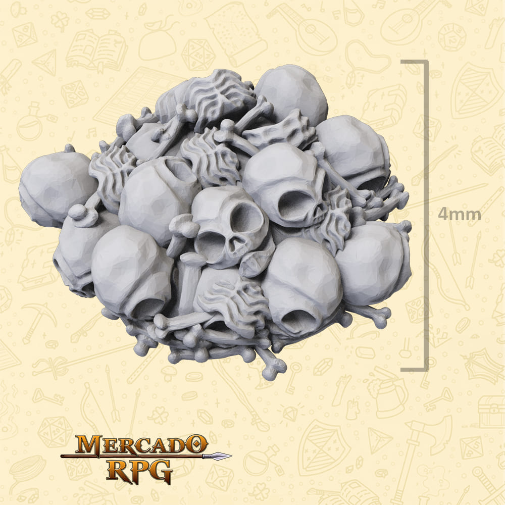 Pilha de Ossos para Bases e Cenários - Miniatura - RPG