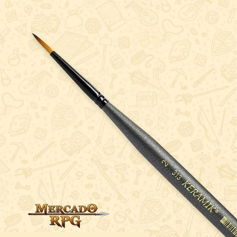 Pincel Keramik Mini 313 Sintético Redondo #02 - RPG
