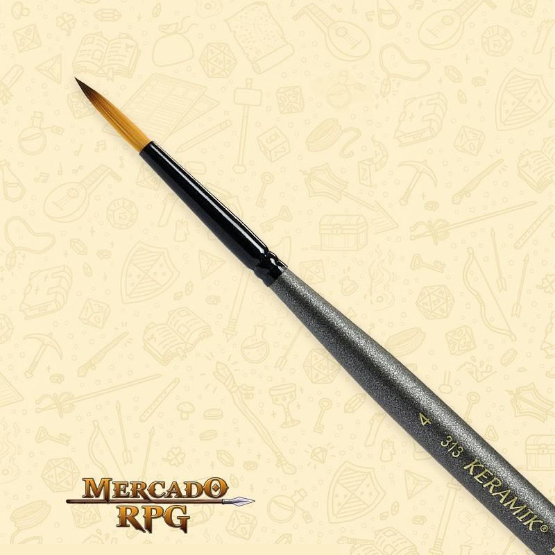 Pincel Keramik Mini 313 Sintético Redondo #04 - RPG
