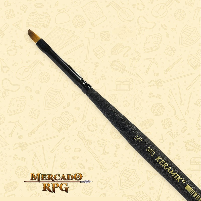 Pincel Keramik Mini Brush 363 Sintético Angular #10/0 - RPG
