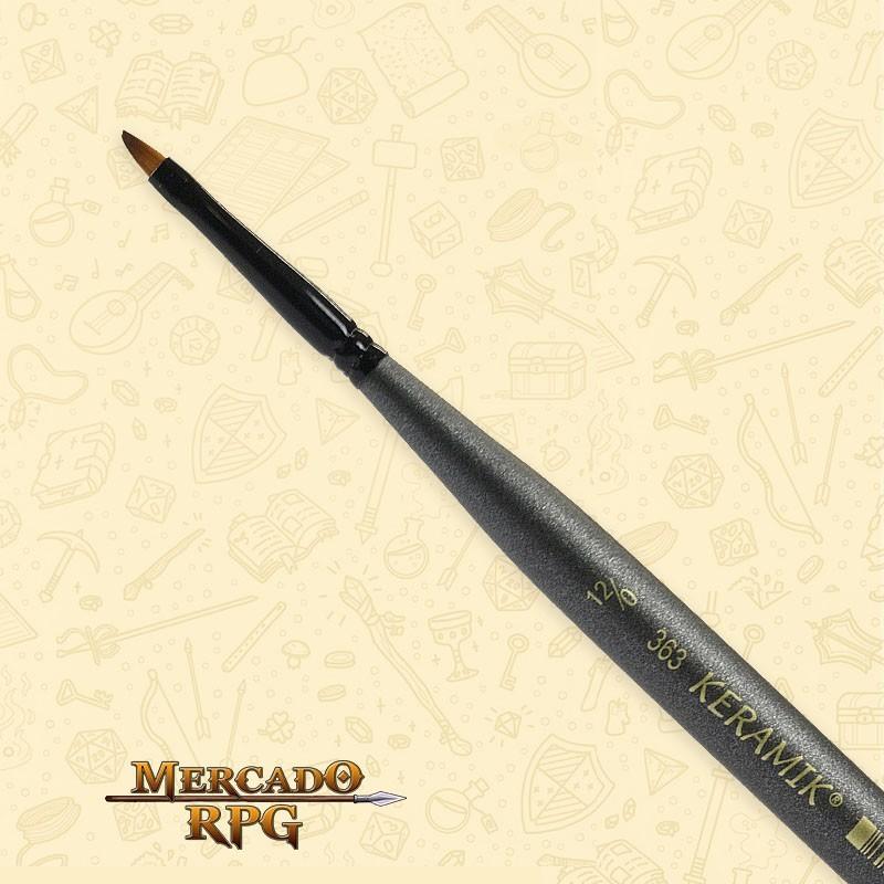 Pincel Keramik Mini Brush 363 Sintético Angular #12/0 - RPG