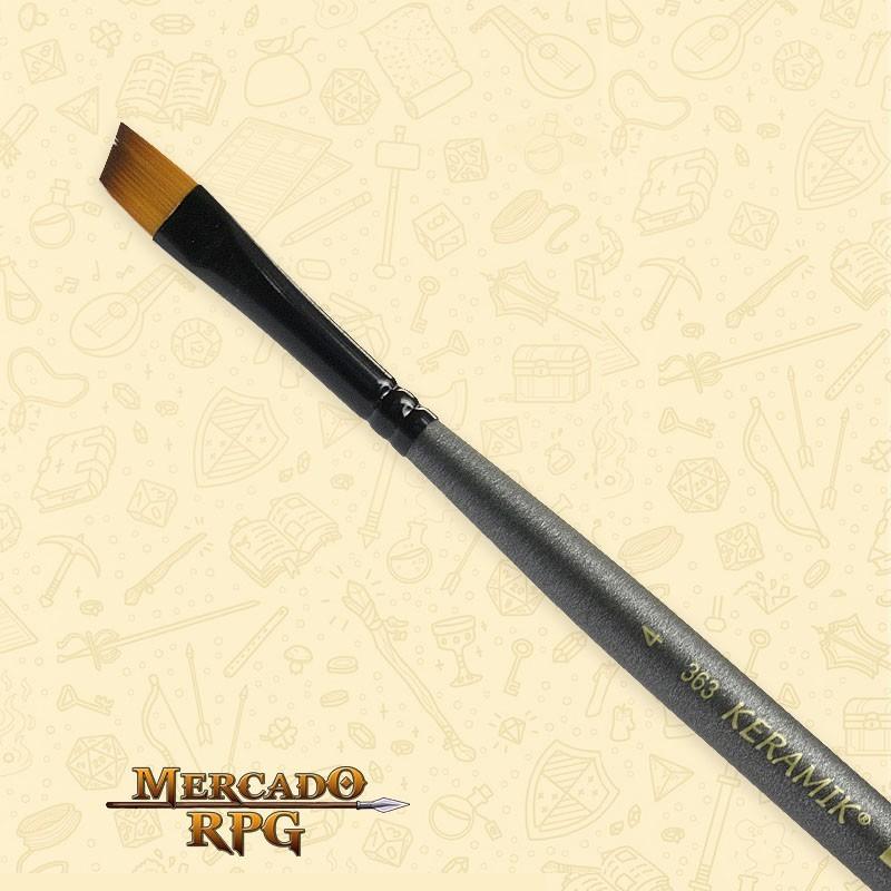Pincel Keramik Mini Brush 363 Sintético Angular #4 - RPG