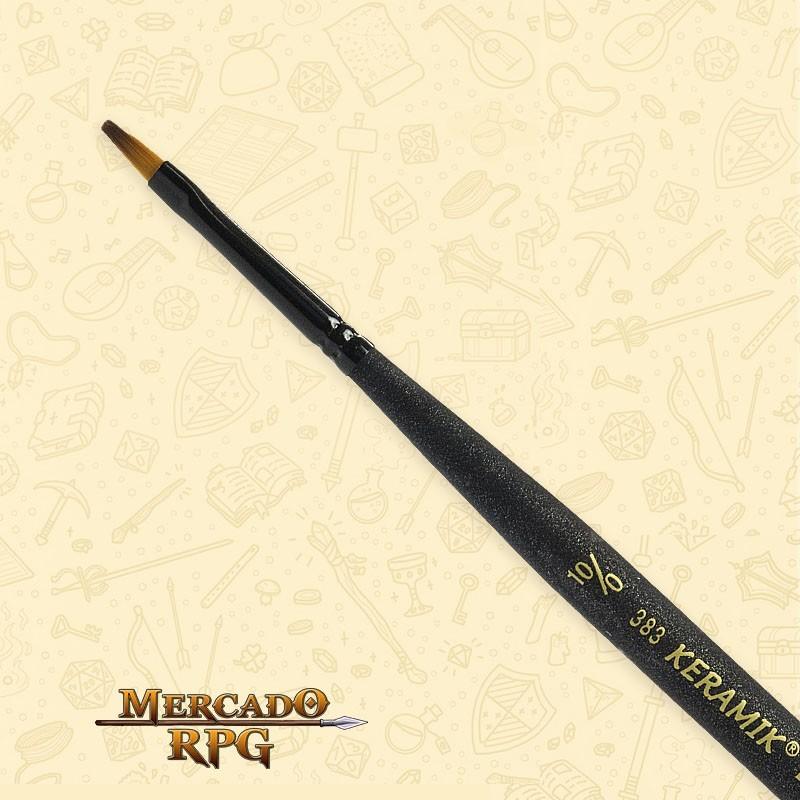Pincel Keramik Mini Brush 383 Sintético Chato #10/0 - RPG