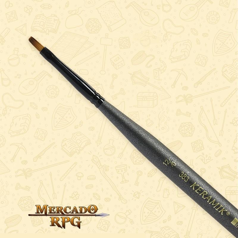 Pincel Keramik Mini Brush 383 Sintético Chato #12/0 - RPG