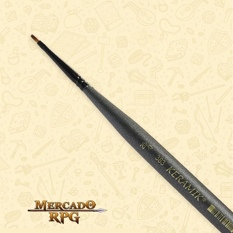Pincel Keramik Mini Brush 383 Sintético Chato #20/0 - RPG
