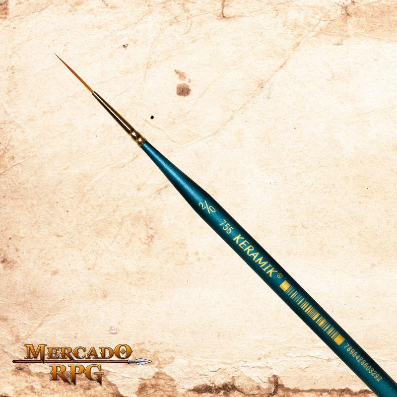 Pincel Keramik Premium 755 Liner #2/0  - RPG  - Mercado RPG