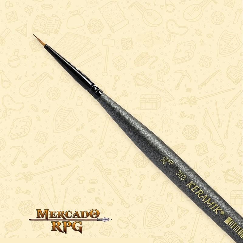 Pincel Keramik Monograma Mini Brush 303 - Sintético #20/0