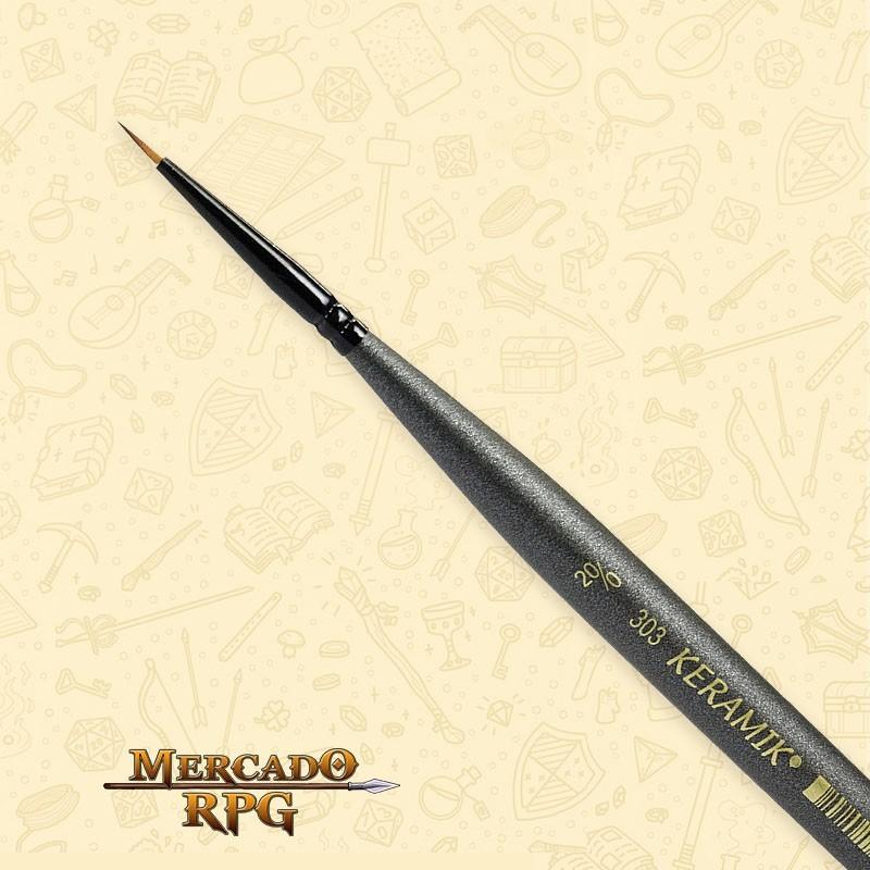 Pincel Keramik Monograma Mini Brush 303 - Sintético #20/0 - RPG