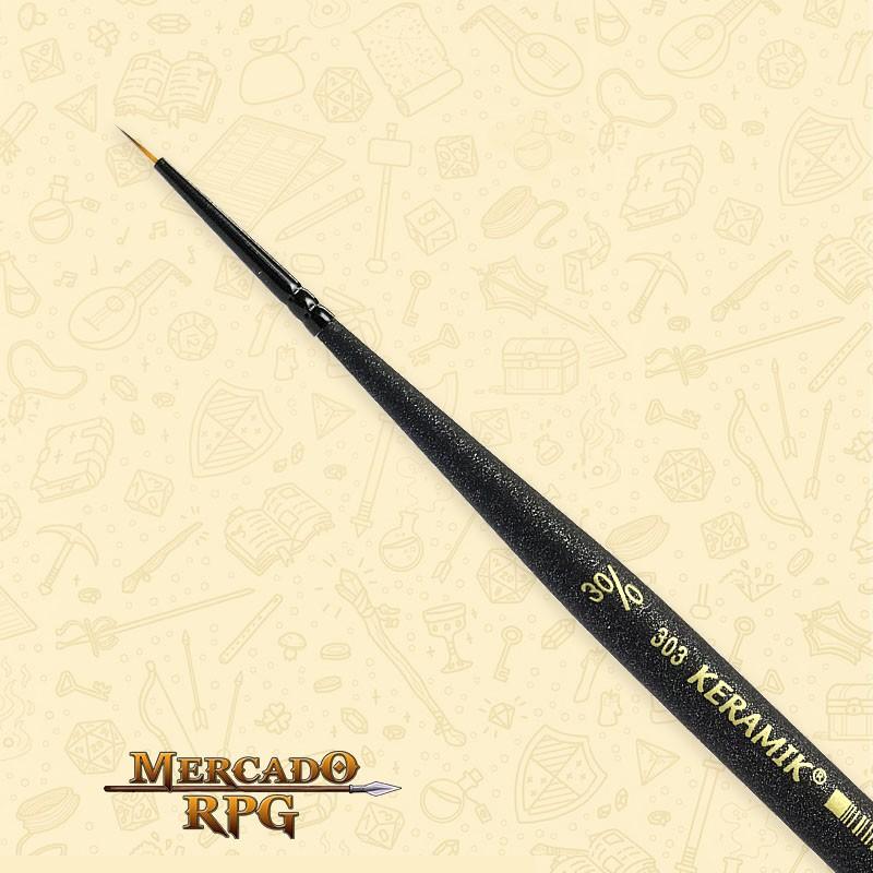 Pincel Keramik Monograma Mini Brush 303 - Sintético #30/0  - Mercado RPG