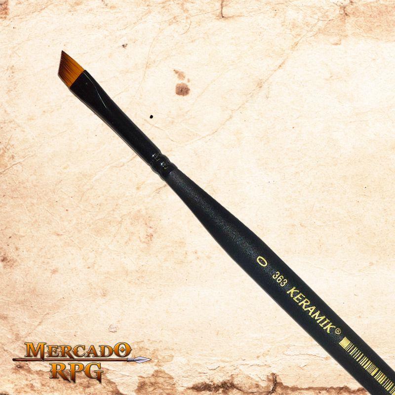 Pincel para Drybrush Keramik 363 Mini Chanfrado 3mm - RPG